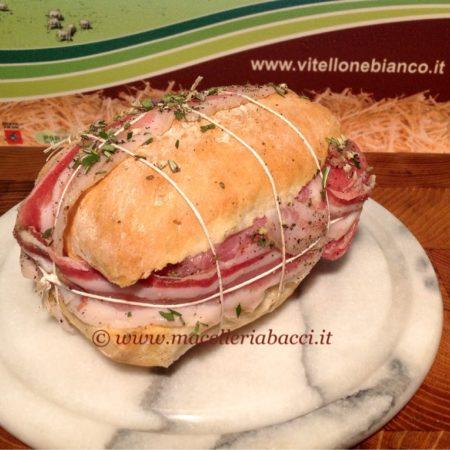 Panino di vitella e pancetta