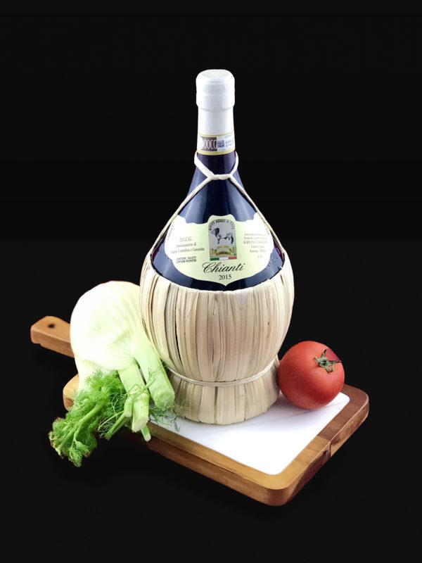 Fiasco di Vino Chianti Docg Macelleria Bacci